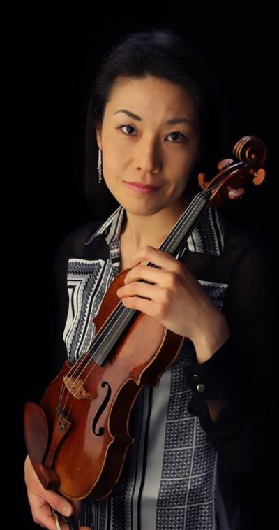 eri noda violin player with the icopr