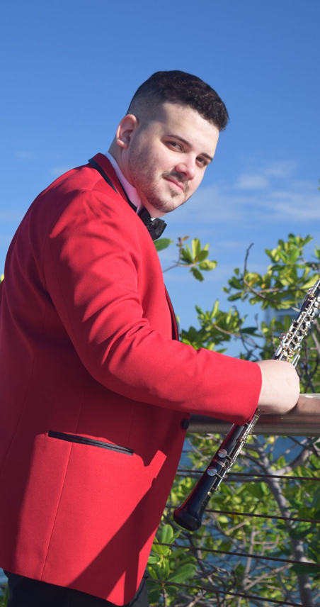 jose gabriel rosa vazques oboe player with the icopr