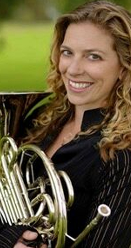 amy sanchez french horn player with the icopr