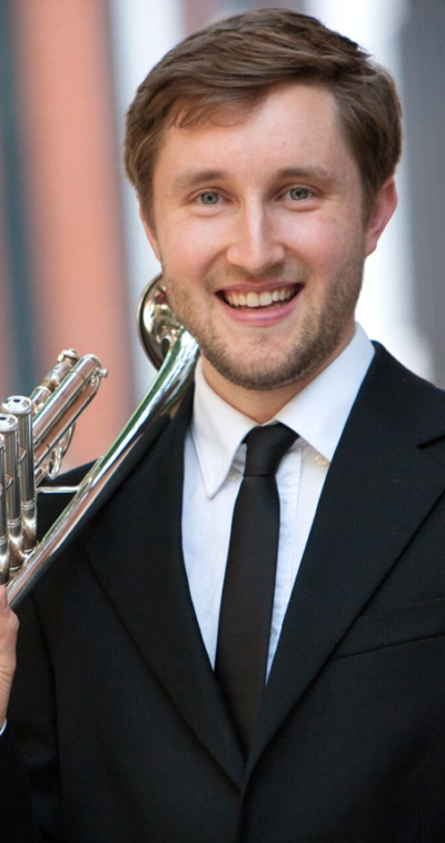 caleb wiebe trumpet player with the icopr