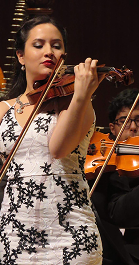 barbara santiago violin player for the icopr