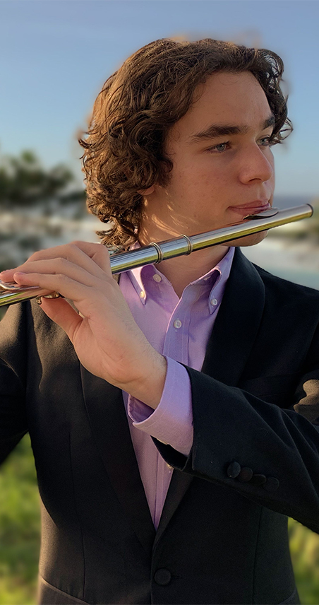 johnatan torres flute player with the icopr